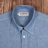 1937 Roamer Shirt short sleeve blue chambrey