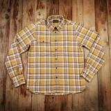 1937 Roamer Shirt yellow flannel  - Odds & Ends