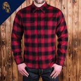 1937 Roamer Shirt red check flannel
