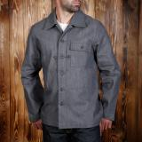 1944 P44 Jacket grey denim 13oz - Odds & Ends