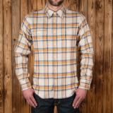 1937 Roamer Shirt navy yellow flannel