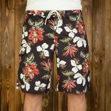 1961 Surf Short Hawaii Flowers faded black