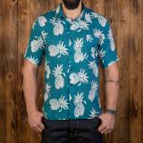 1937 Roamer Shirt short sleeve blue pineapple Odds & Ends