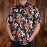 1937 Roamer Shirt short sleeve Hawaii flowers