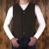 1942 Hunting Vest brown melange wool