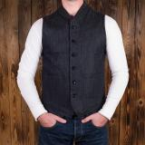 1908 Miner Vest 14oz hemp denim