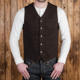 1937 Roamer Vest Moleskin dark brown