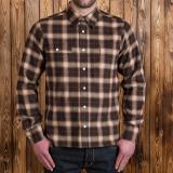 1937 Roamer Shirt brown beige check flannel