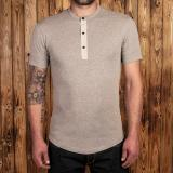 1927 Henley Shirt short sleeve fog brown