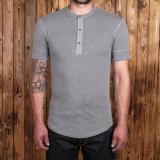1927 Henley Shirt short sleeve light grey