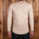 1927 Henley Shirt long sleeve oatmeal