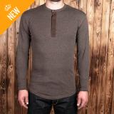 1927 Henley Shirt long sleeve brown melange