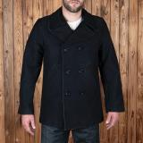 1938 Pea Coat Elephant Skin black
