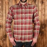 1937 Roamer Shirt oliv red flannel