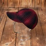 1944 A3 Cap red check wool