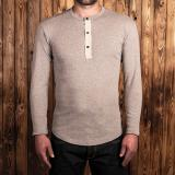 1927 Henley Shirt long sleeve fog brown
