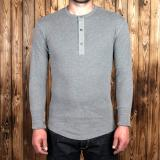 1927 Henley Shirt long sleeve light grey
