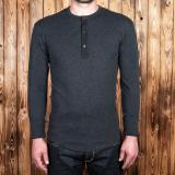 1927 Henley Shirt long sleeve iron grey