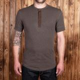 1927 Henley Shirt short sleeve brown melange