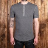 1927 Henley Shirt short sleeve grey melange