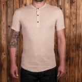 1927 Henley Shirt short sleeve oatmeal