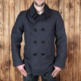 1938 Pea Coat Elephant Skin asphalt grey